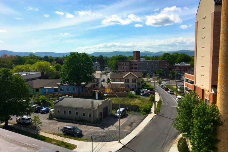 Birds Eye View of Glens Falls, NY